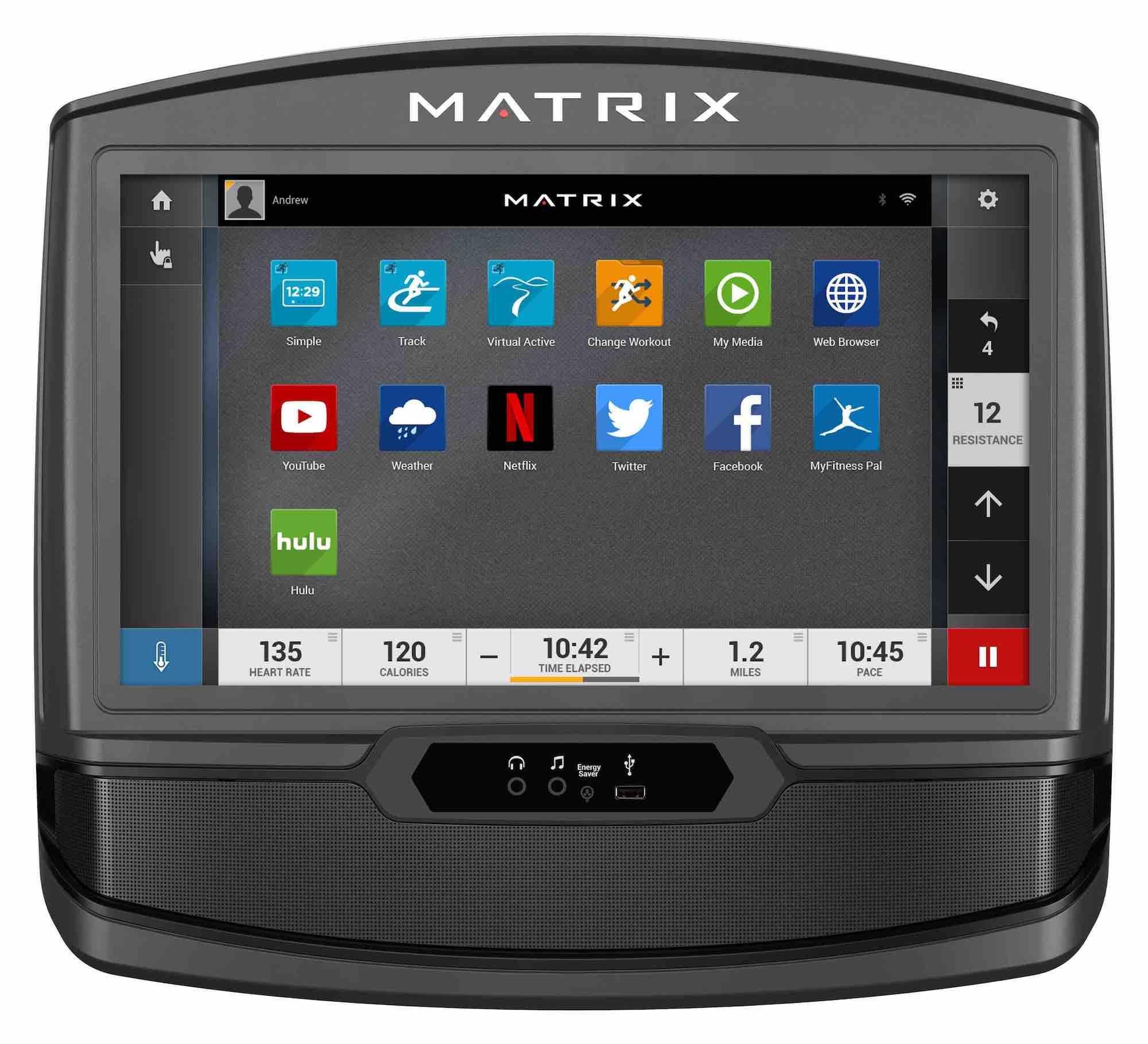 """Pantalla interactiva de 16"""" de la Matrix E30 XIR"""